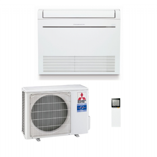 Mitsubishi Electric Air Conditioning Heat Pump Inverter MFZ-KA35VA Floor Mounted 3.5Kw/12000Btu A 240V~50Hz